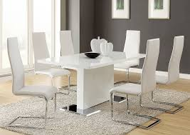 Brothers Fine Furniture White Dining Table w 4 Side Chairs