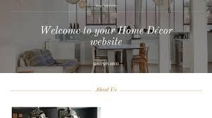 home d cor website templates godaddy