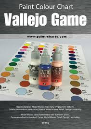 Paint Colour Chart Vallejo Game Color 20mm