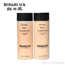 red black 120ml concealer nourishing brightening skin color liquid foundation makeup natural body foundation liquid makeup concealer makeup from