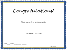Congratulations Award Template Congratulations Certificate Complete Guide Example 3