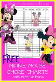 Free Minnie Mouse Chore Charts Chore Chart Kids Reward