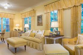 Example of a classic living room design in Newark with yellow walls
