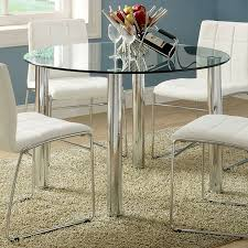 glass round dining table. Furniture Of America Kona Glass Tempered Round Dining Table