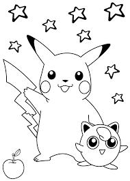 Tranh Tô Màu Đẹp Cho Bé: Tranh Tô Màu Pokemon Dễ Thương - P1