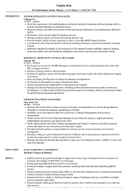 Planning Manager Resume Sample Demand Planning Manager Resume Samples Velvet Jobs 1