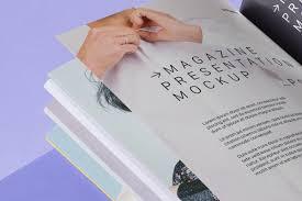 Psd Magazine Mockup Presentation Psd Mock Up Templates Pixeden