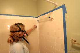 can you paint tile how we brightened our bathtub on a budget bathroom walls over