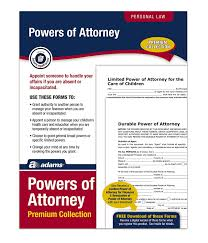 Power Of Attorney For Child Care Adams Power Of Attorney Forms Pack Includes Forms And Instructions Alfp126