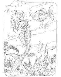 Small Picture mermaid coloring page free bjl Coloring Mermaids Ocean Misc
