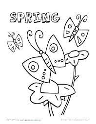 Spring Coloring Pages Preschool Springtime Printable Color Home