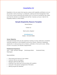 Hospitality Resume Examples Sample Pdf Australian Example