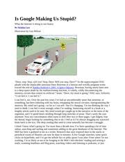 article summary is google making us stupid david mabry wrd  other related materials