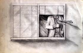 window pencil drawing. everyday sketch window pencil drawing