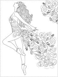 Trend Ballerina Coloring Page 24 #8075