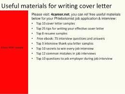 Phlebotomy Cover Letter Phlebotomy Cover Letter