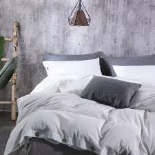 sleepbella duvet cover queen 3 piece washed cotton duvet cover set bedding set includes 1x duvet cover 2x pillowcases made of soft and comfortable cotton