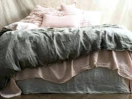 belgian linen duvet cover pure king in floss dusky west elm flax