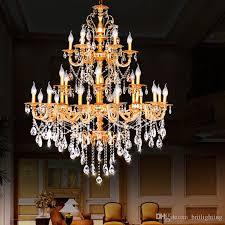 big chandelier hotel project villa chandelier lamp 24 lights luxury crystal chandelier led interior lighting led candle crystal pendant lamp vintage