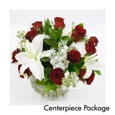 White wedding centerpieces Round Table Red White Wedding Centerpiece Package Online Ordering Martins Super Market Bakery Deli Red White Wedding Centerpiece Package Martins Specialty Store