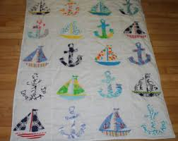 Baby Boy Nautical quilt made with Lilly Pulitzer fabric   Anything ... & Baby Boy Nautical quilt made with Lilly Pulitzer fabric Adamdwight.com