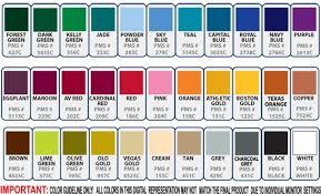 Dye Sublimation Color Chart Sublimation Color Chart Pantone Pantone Color Polo Shirt