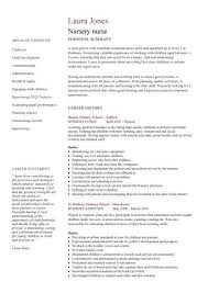 Nursing Curriculum Vitae Fascinating Nursing CV Template Nurse Resume Examples Sample Registered