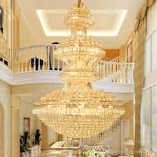 led modern crystal chandeliers lights fixture american big golden chandelier lamps hotel lobby hall stair way villa home indoor lighting metal chandelier