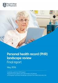 Personal Health Record Phr Landscape Review Rcp London