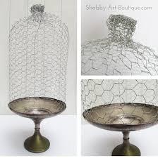 diy en wire cloche shabby art