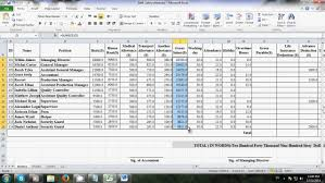 Salary Chart In Excel Format How To Make Salary Sheet Using Microsoft Excel Youtube