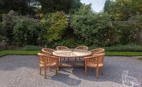 sherringham 180cm round and 6 sherringham chairs 01