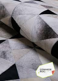 geometric cowhide rug 4
