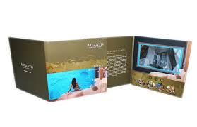 A5 Customized Rechargeable Digital Video Brochure For Wedding Invitation