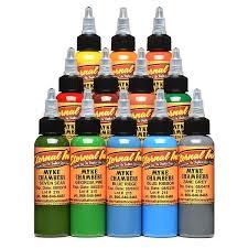 Eternal Ink Color Chart Myke Chambers Signature Series Set Of 12 1oz Bottles Eternal Tattoo Ink