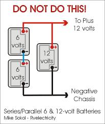 6 Volt Battery Wiring Diagram For Coach 8 6 Volt Batteries in Series Diagram