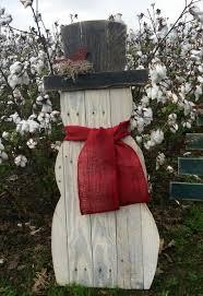 diy wooden snowman for christas garden