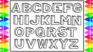 how to draw 3d alphabet letters kids drawing and coloring alphabets abc a to z coloring pages