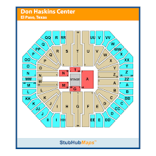 Don Haskins Center El Paso Seating Chart Ut El Paso Don Haskins Center El Paso Event Venue