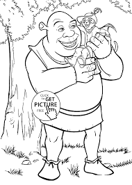 Small Picture Shrek coloring pages for kids printable free coloing 4kidscom
