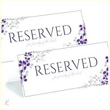 Reserved Signs Templates Reserved Table Sign Template Inspirational Best Of Printable