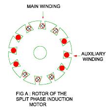 rotor pf the split phase motor