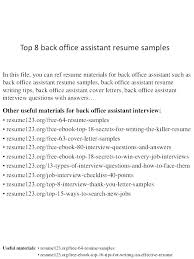 Sample Resumes Templates Resume Template For Office Assistant