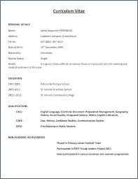 download free sample resume sample resume formats download curriculum vitae format free download