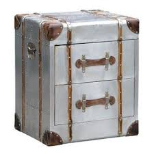 industrial metal furniture. Silver Industrial Style Aluminium 2 Drawer Bedside Chest (51.5 X 43.5 61cm) Metal Furniture