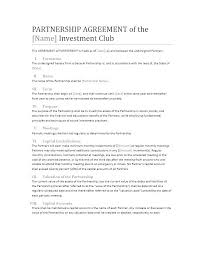 Free Partnership Agreement Templates Business General Printable ...