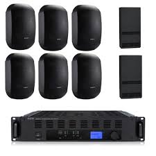 Auditorium Sound System with 6xMASK 4 CT Wall Mount Loudspeakers, Subw