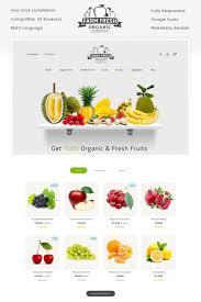 Online Menu Design Software Fresh Organic Store Opencart Template Sticky Menu Web