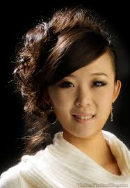 Chinese Women Hair Style messy upstyles for medium hair updo for shoulder length hair 2566 by wearticles.com