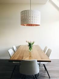 Copper Dining Table Lights Minimalist Dining Room With Ikea Pendant Light In Copper And